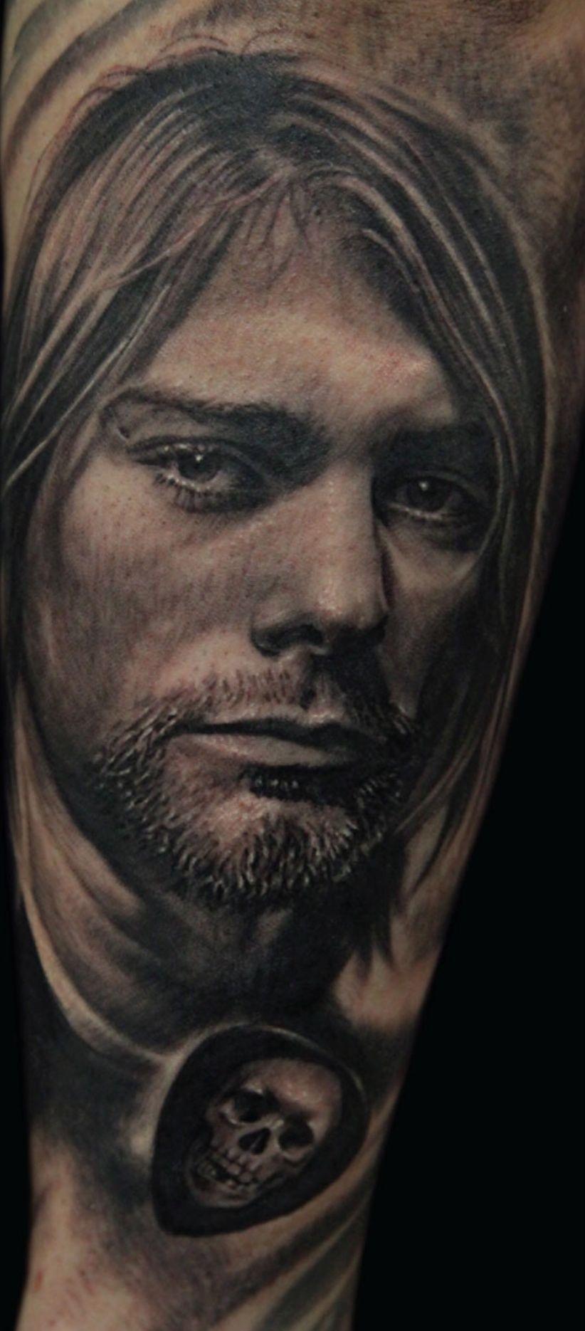 Kurt cobain portrait by q inked mag portrait life