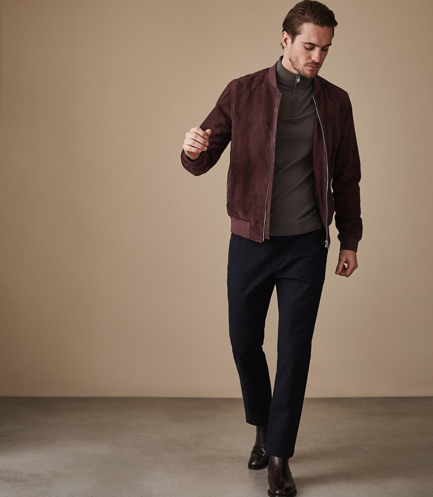 ac65cd06039 Reiss Blackhall Merino Wool Zip Neck Jumper Khaki - XL | Products ...