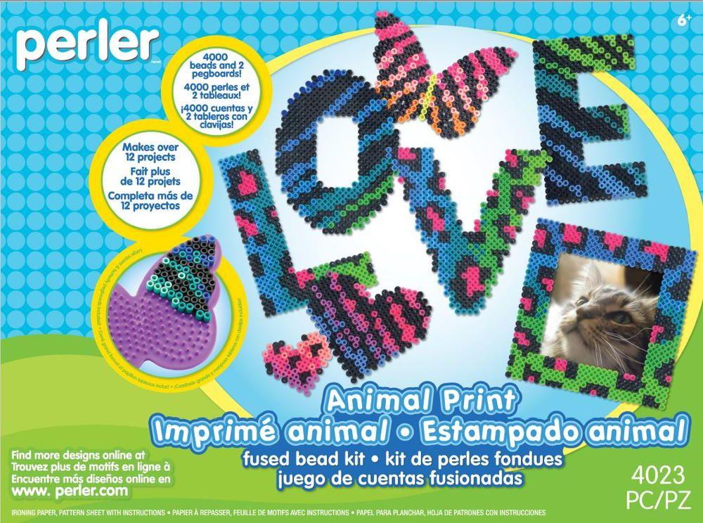 Animal Print Perler Bead Kit Review Bead Kits Perler Beads And Beads