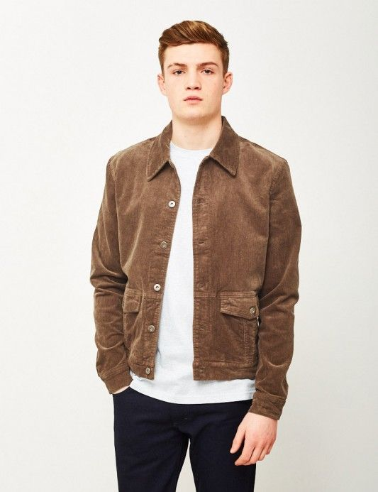 b90e2fe8531 The Idle Man Corduroy Worker Jacket Brown. Available at The Idle Man   StyleMadeEasy