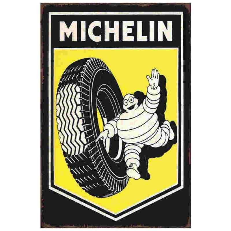 GARAGE Cadeau MAN CAVE Michelin Rétro Vintage métal signe