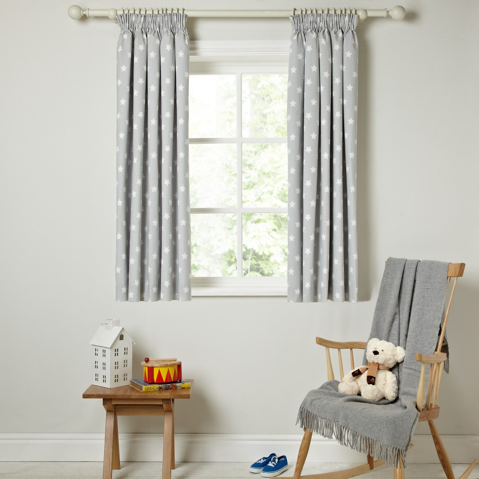 Buy little home at john lewis star pencil pleat blackout lined