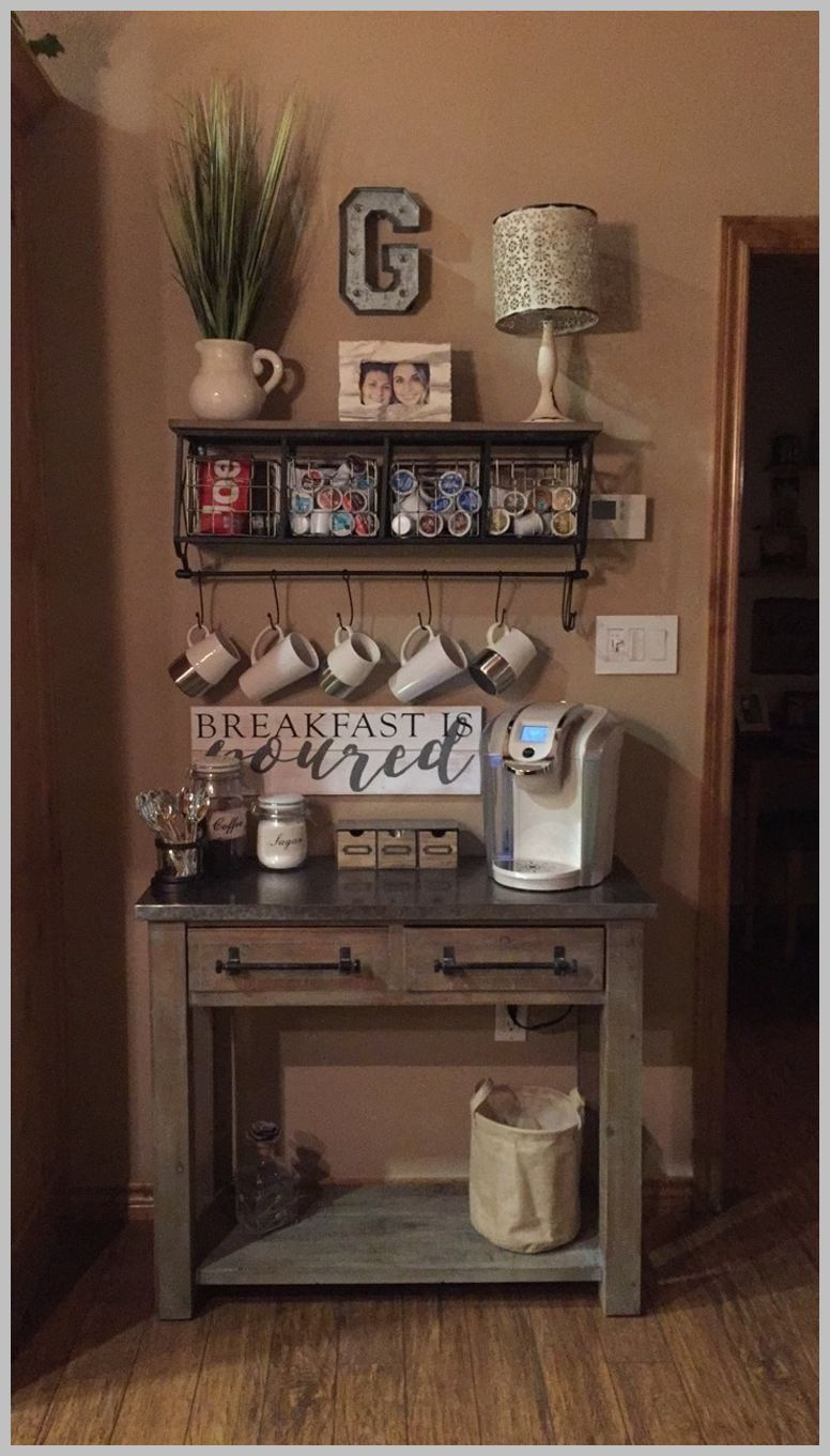 Home Decor Ideas That Will Open Up Small Spaces Coffee Bar Home Decor Home Decor