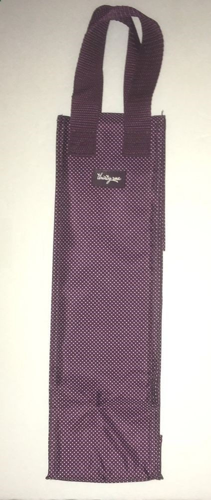Thirty One Gifts Plum Gingham Dot Bottle Thermal Purple Wine Bag #ThirtyOne #ThermalBag #wine #bottle #winebottle #cooler