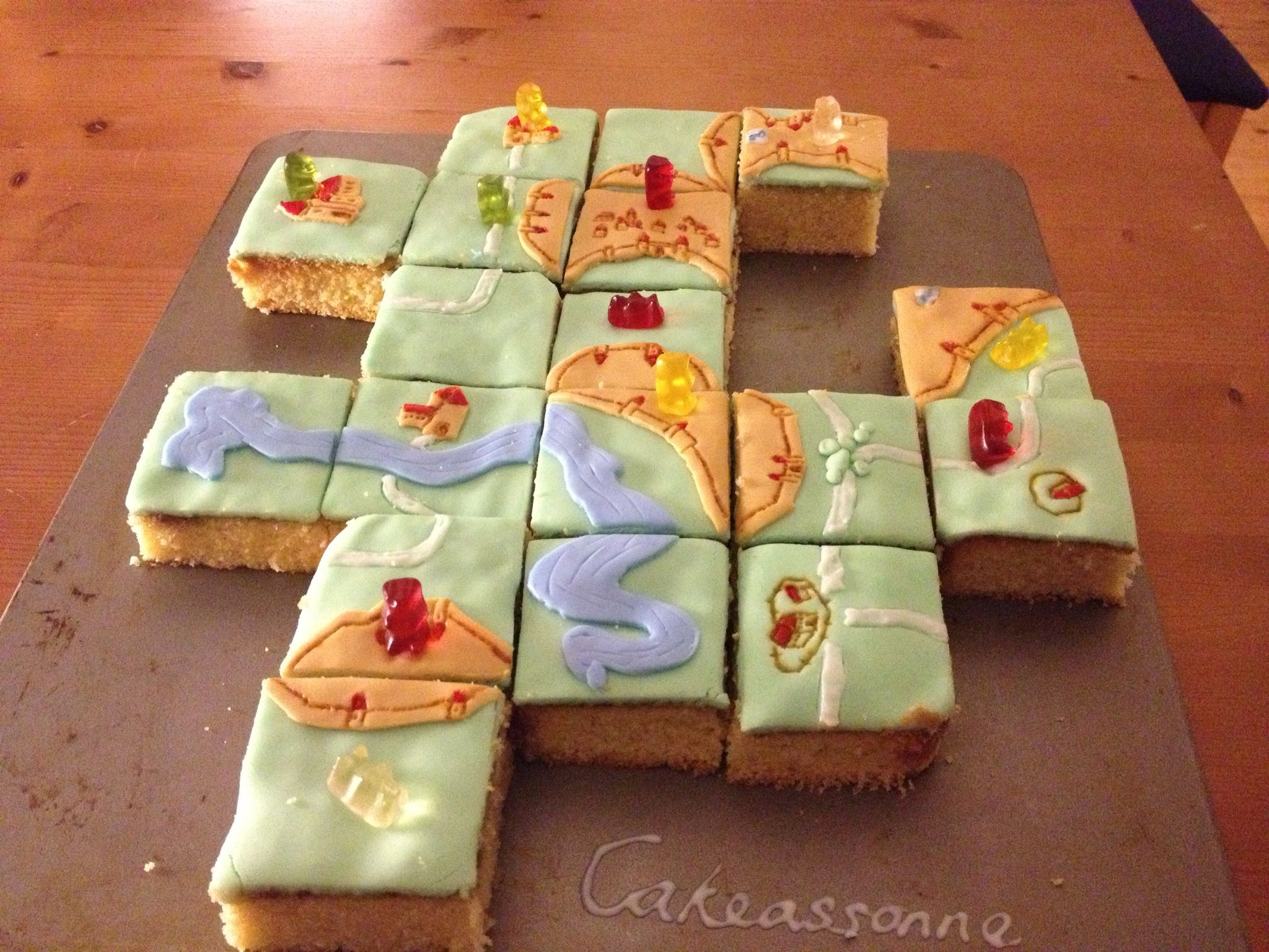 Carcassonne Cake With Images Game Night Food