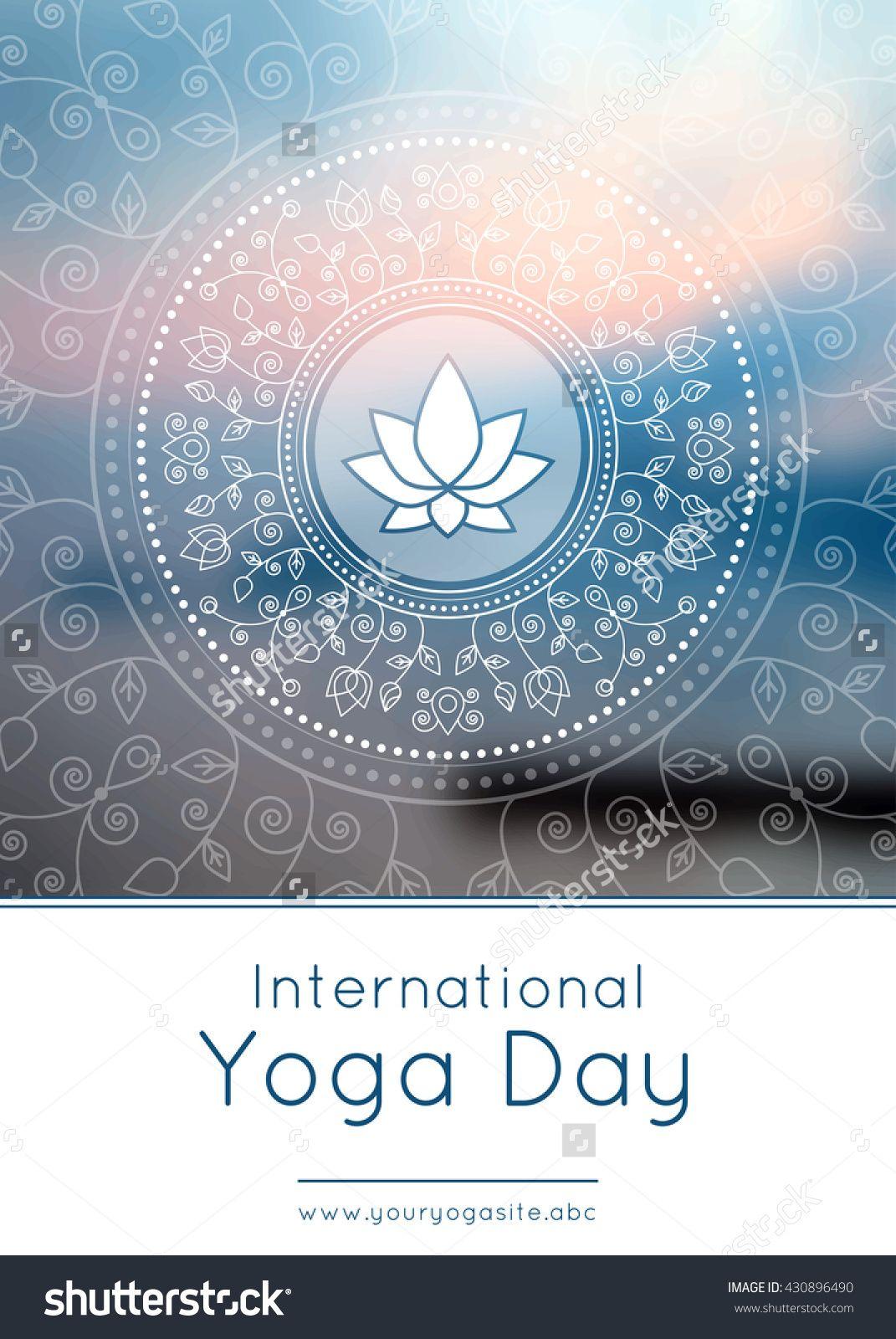 Vector Yoga Illustration Template Of Poster For International