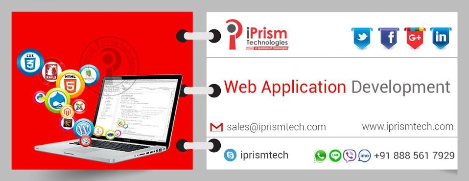 iPrism Technologies provide leading services in Web Application Development.Approach us on mob:+918885617929 or sales@iprismtech.com https://goo.gl/KzMxOR #iprismtechnologies #bestwebapplicationdevelopment #bestservices #bestteam