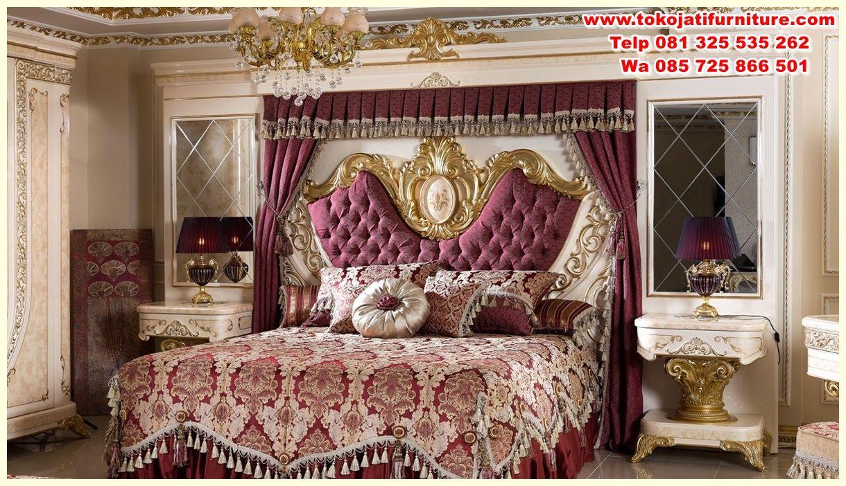 desain kamar tidur ukiran jepara, desain set tempat tidur klasik