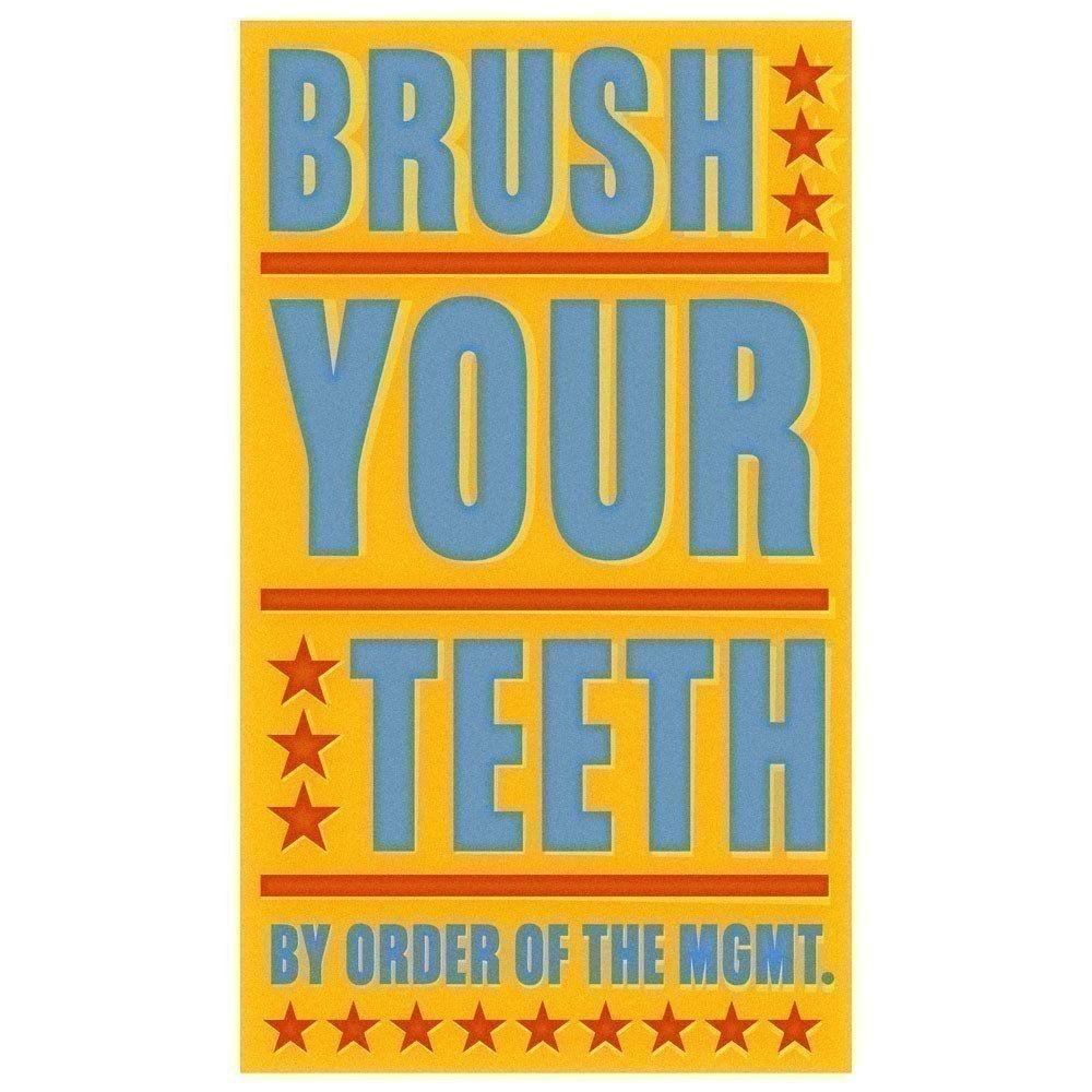 Bathroom Wall Decor- Kids Bathroom Art- Brush Your Teeth Print- Art ...