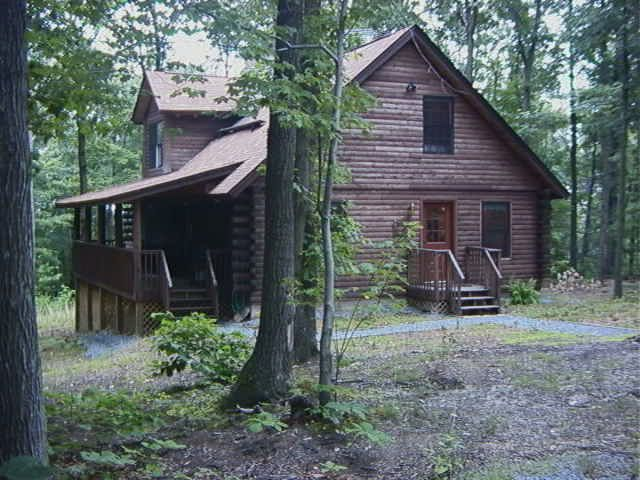 This Lovely Two Story Log Cabin Is An Easy One Hour Drive