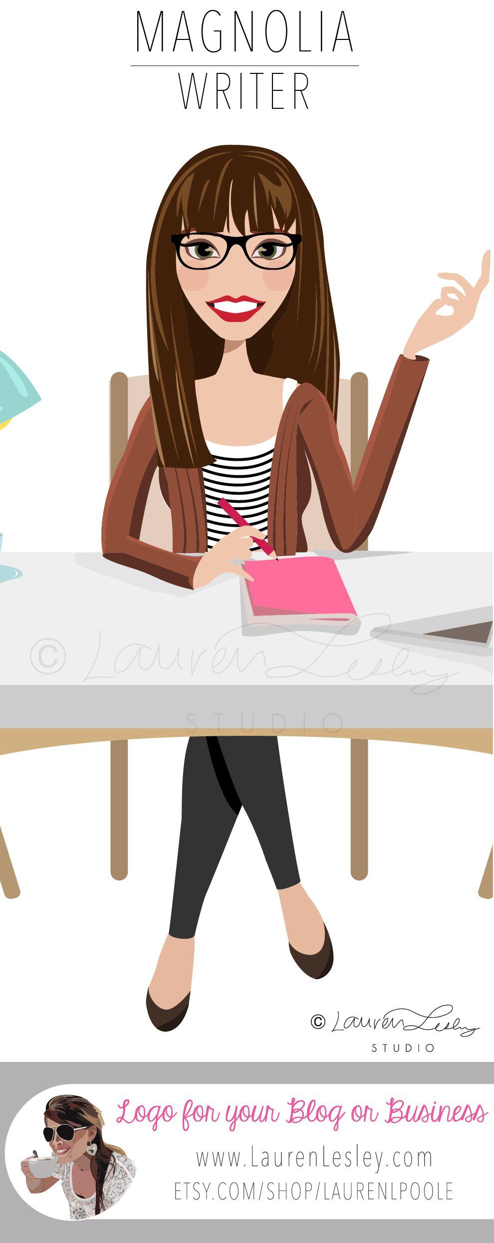 writer clip art logo home office design desk work avatar rh pinterest ch