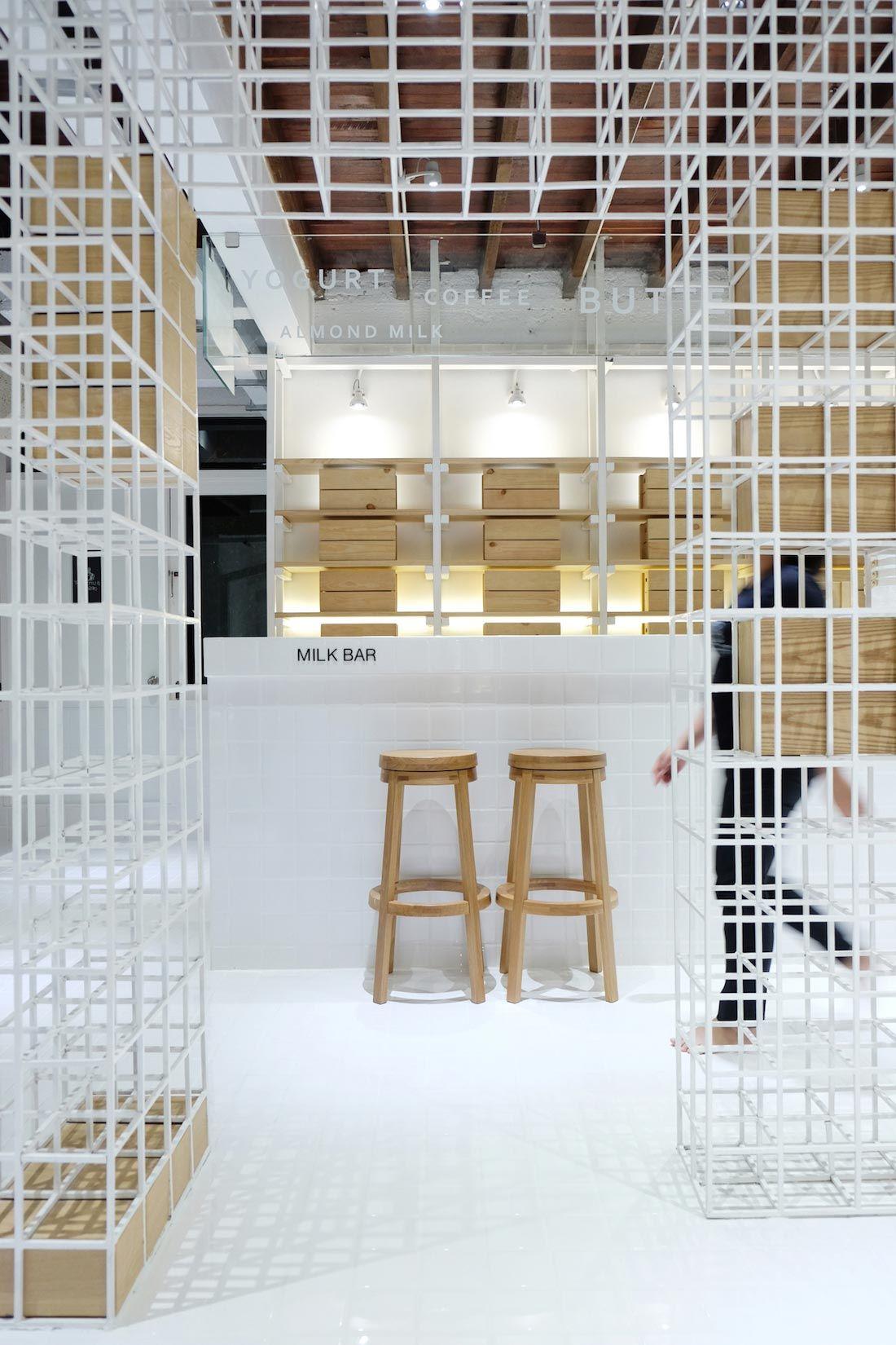 A Simplistic Milk Bar In Bangkok Restaurant Design Design Cafe