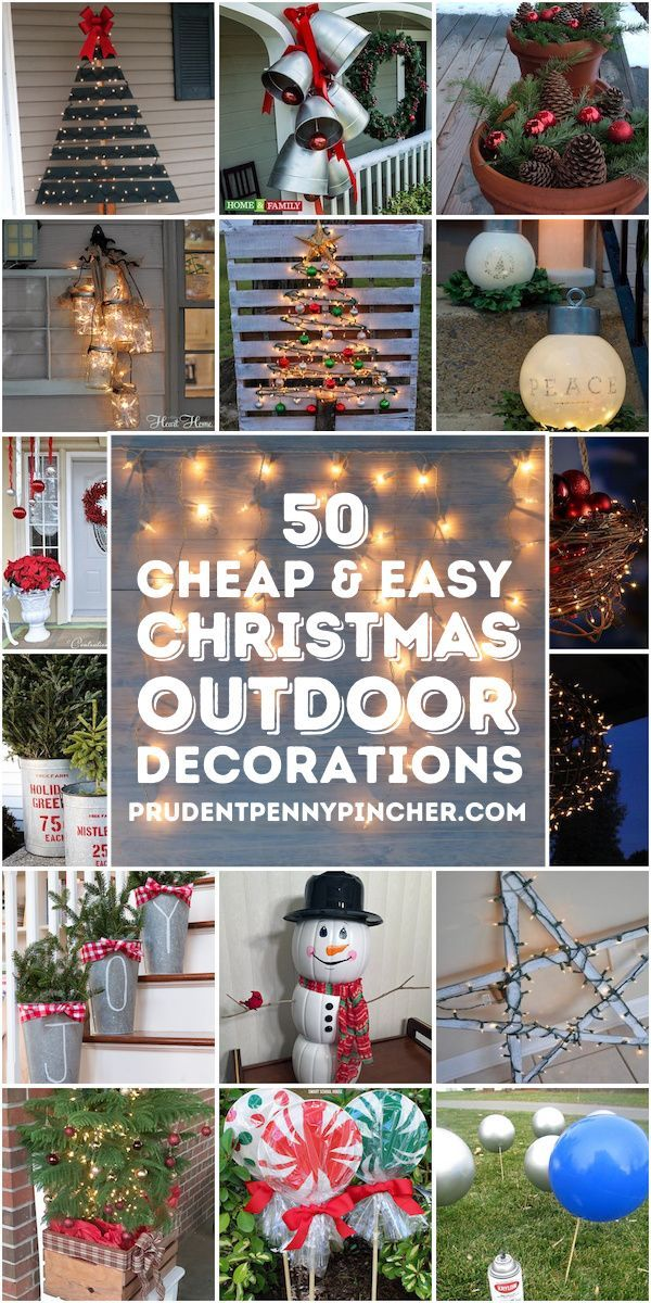 50 Cheap Easy Outdoor Christmas Decorations Christmas Decorations Diy Outdoor Easy Outdoor Christmas Decorations Christmas Porch Decor