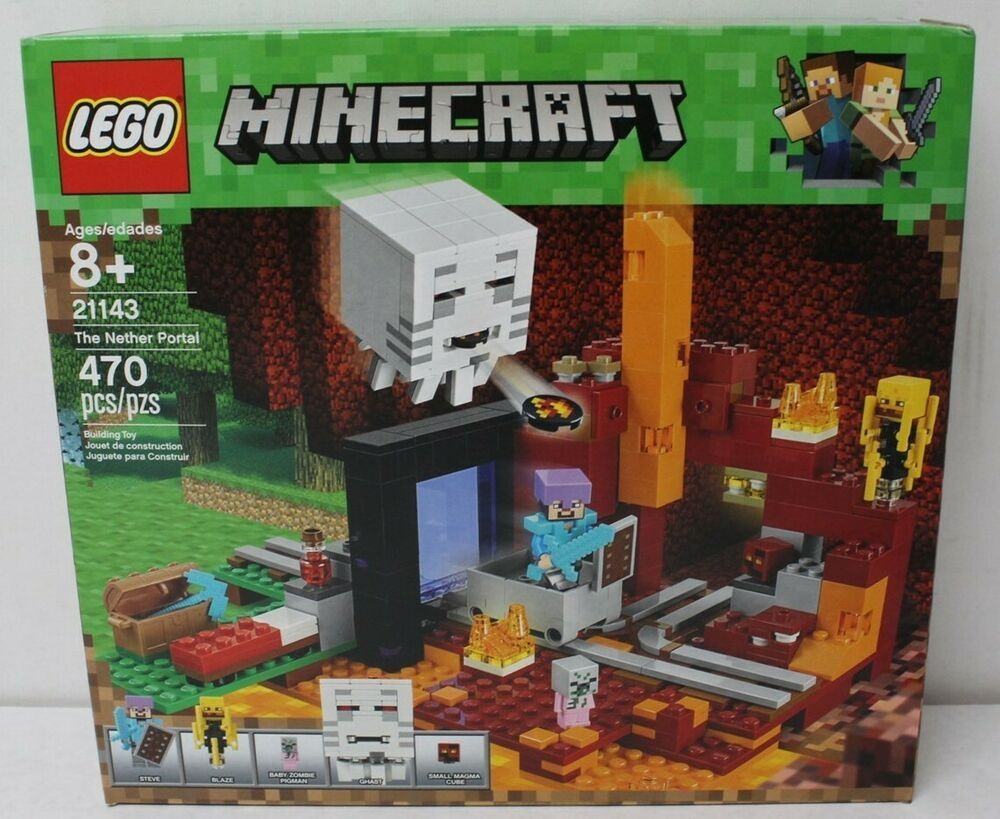 Lego MINECRAFT 21143 /'The Nether Portal/' *Brand new in sealed box*