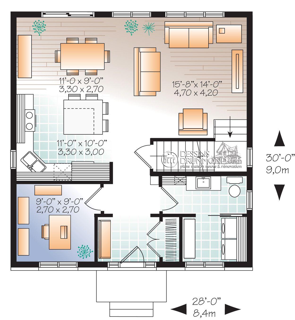 Zen Contemporain W3716 Maison Laprise Maisons Pre Usinees Avec Images Plan Maison Maison Laprise