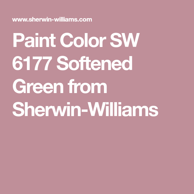 Paint Color Sw 6177 Softened Green From Sherwin Williams