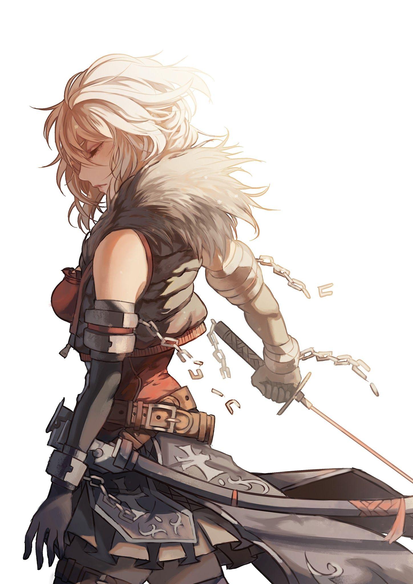 Pin by elizabeth wrenn on other illustration drawing - Anime female warrior ...