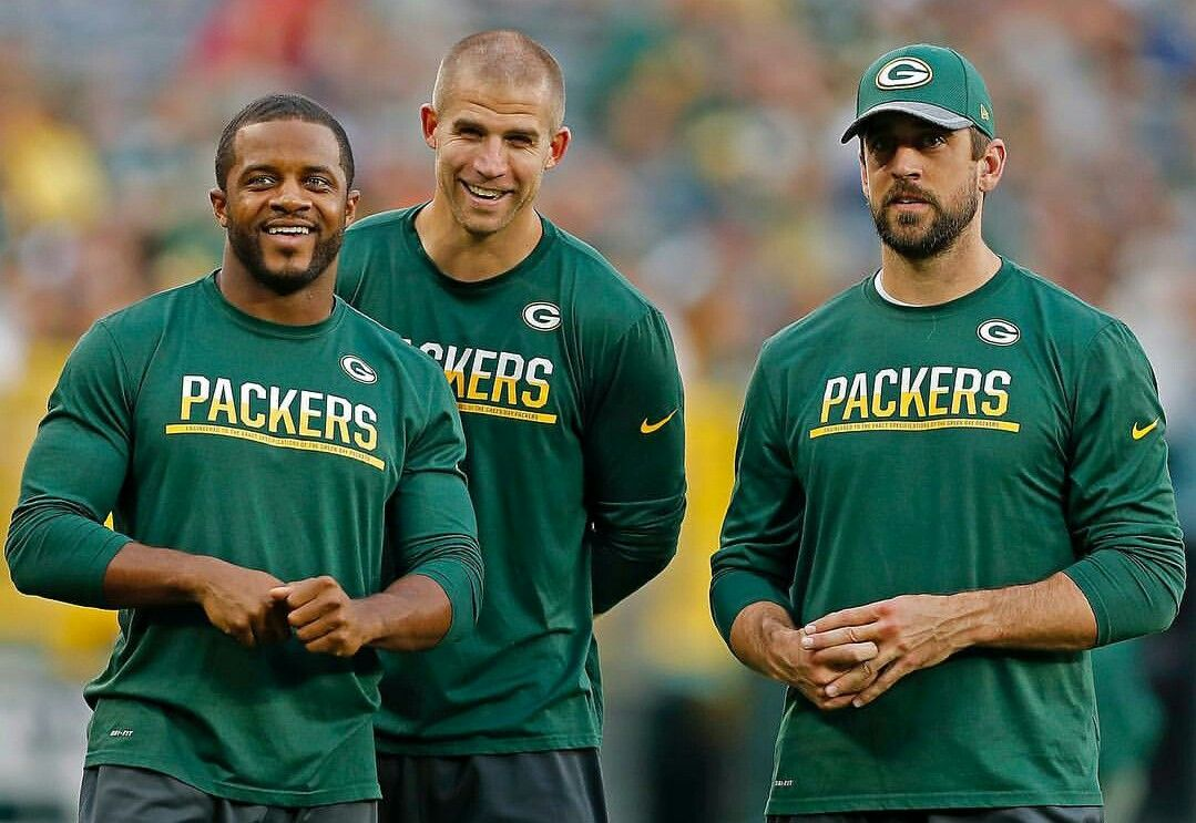 The Packer Trinity Aaron Rodgers Jordy Nelson Randall Cobb Green Bay Packers Packers Green Bay Packers Fans