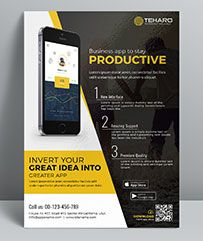 mobile app flyer template perfectly suitable for promote your