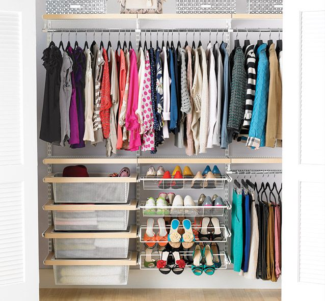 Container Store Closet System Elfapainfully Simple To Installwait For The Sale Organization