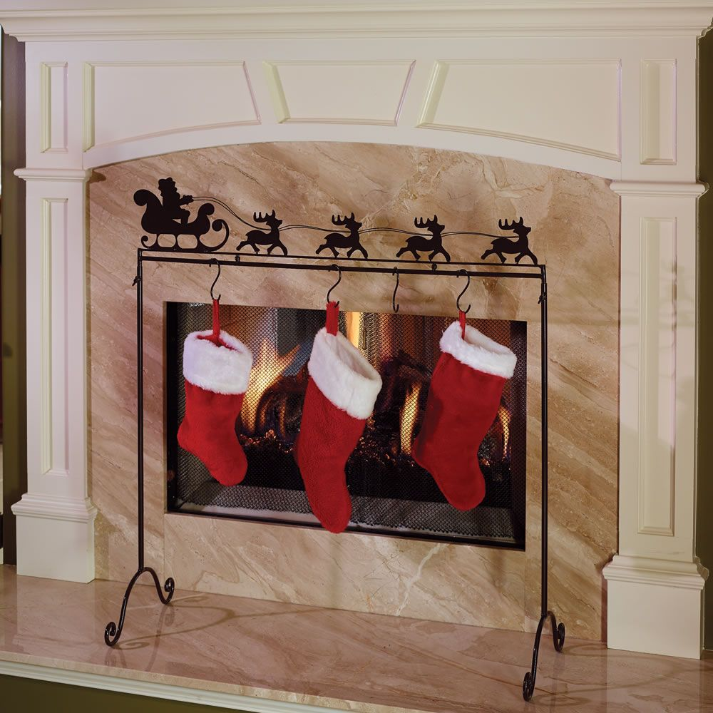 The place anywhere stocking holder hammacher schlemmer