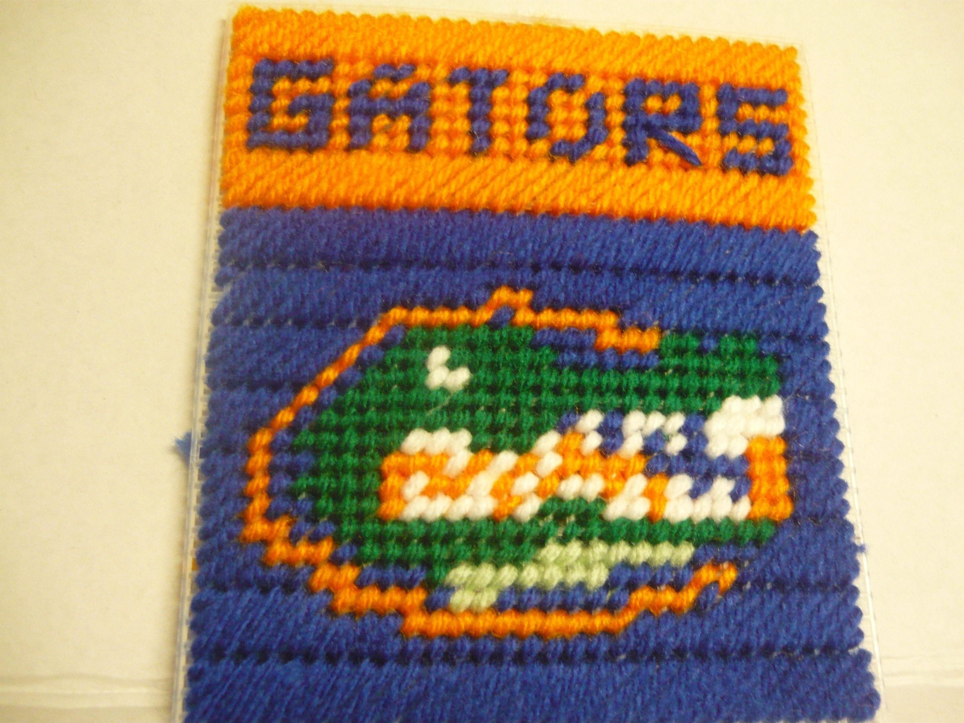 Florida Gators Plastic canvas patterns, Plastic canvas