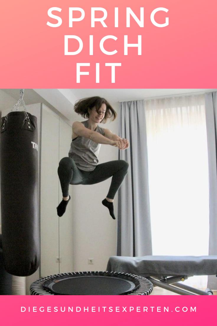 Hast du diese Übung am Trampolin schon einmal ausprobiert? #fit #trampolin #minitrampolin #rebounder...
