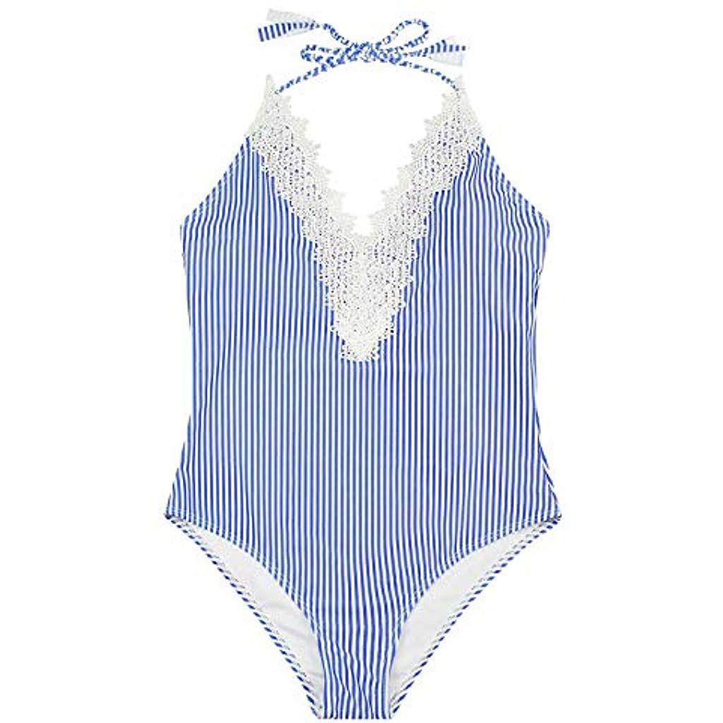UMIPUBO Bikini Donna Balze Push Up Costumi da Bagno Imbottito Costumi da Mare Due Pezzi Multicolore Spiaggia Vita Alta Beachwear Swimwear