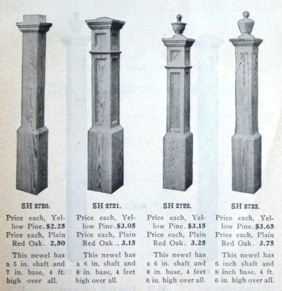 Best Main Stair Newel Posts From Schaller Hoerr Co Catalog 640 x 480