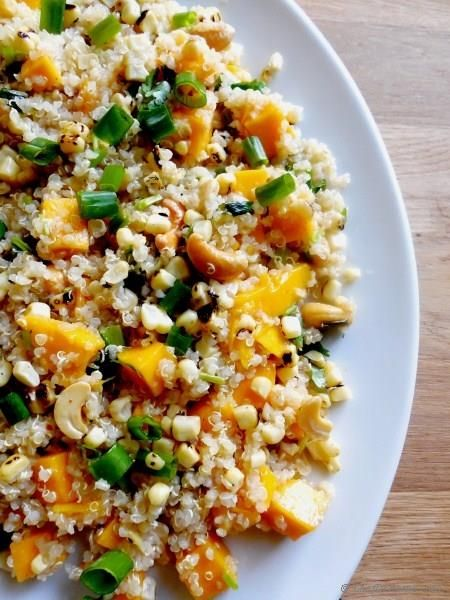 Quinoa Salad with Roasted Corn and Mango