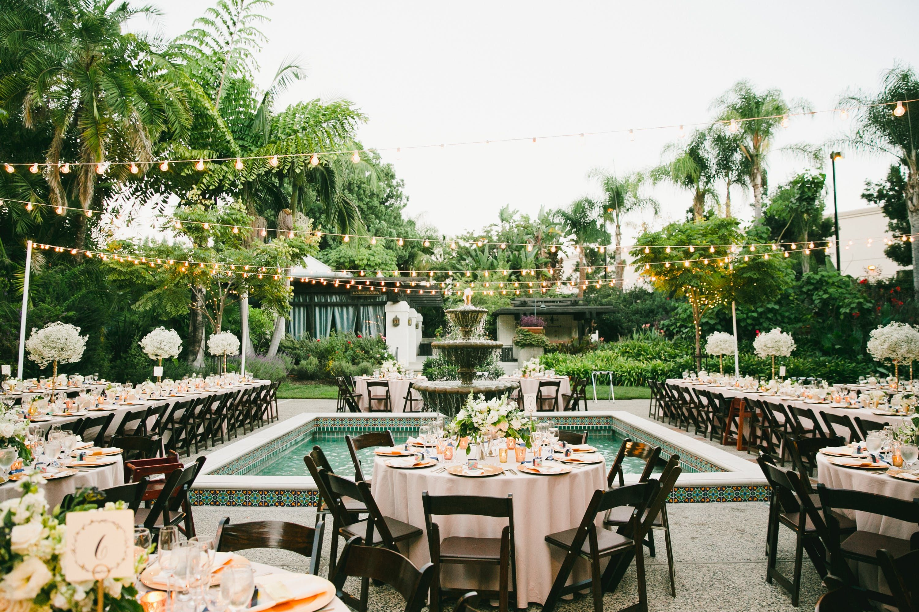 Los Angeles Glam Romance Garden Wedding (With images