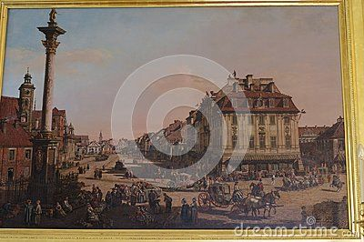 Painting Of Italian Painter In Warsaw In The 18th Century In The