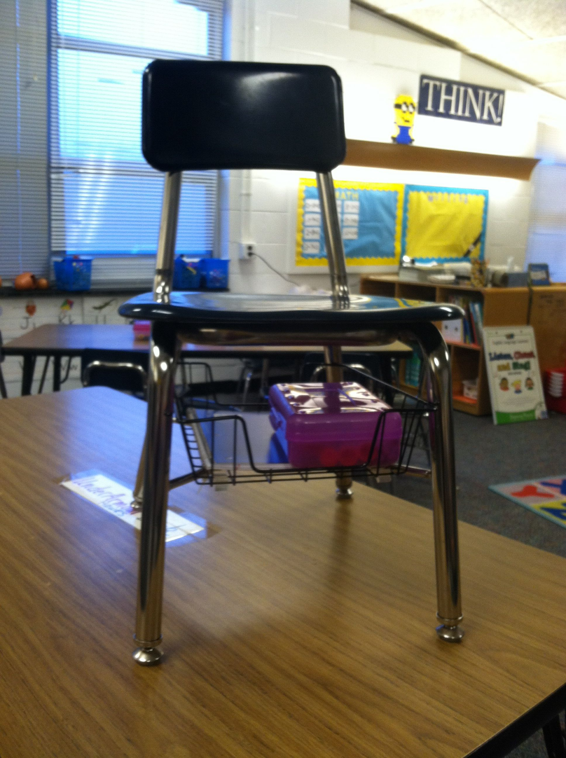 Teacher Chair Classroom Under Chair Storage Standard Wire Paper Basket