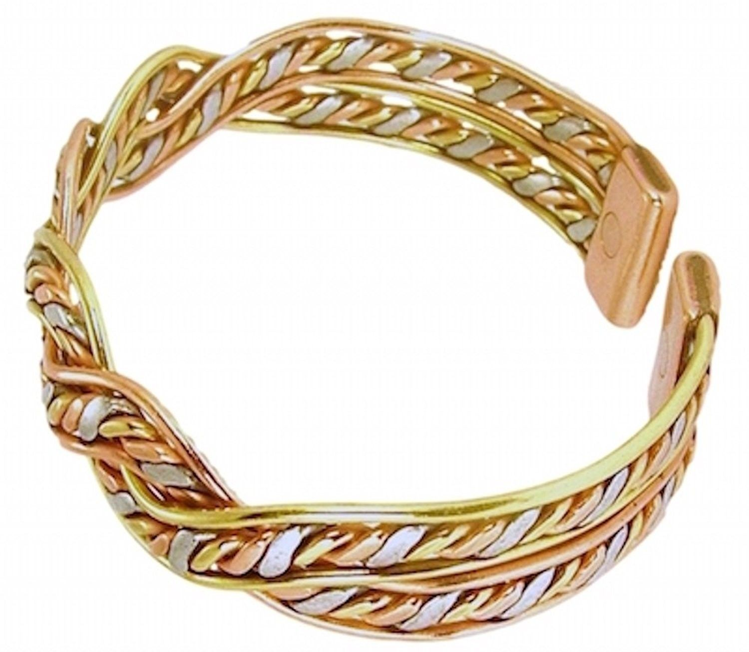 Womens solid copper magnetic bracelet dina with gift box