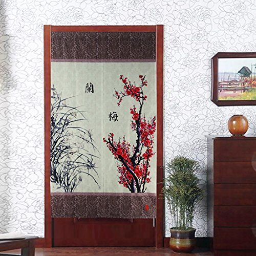 Amazon Com Vintage Chinese Ink Painting Style White Elegant