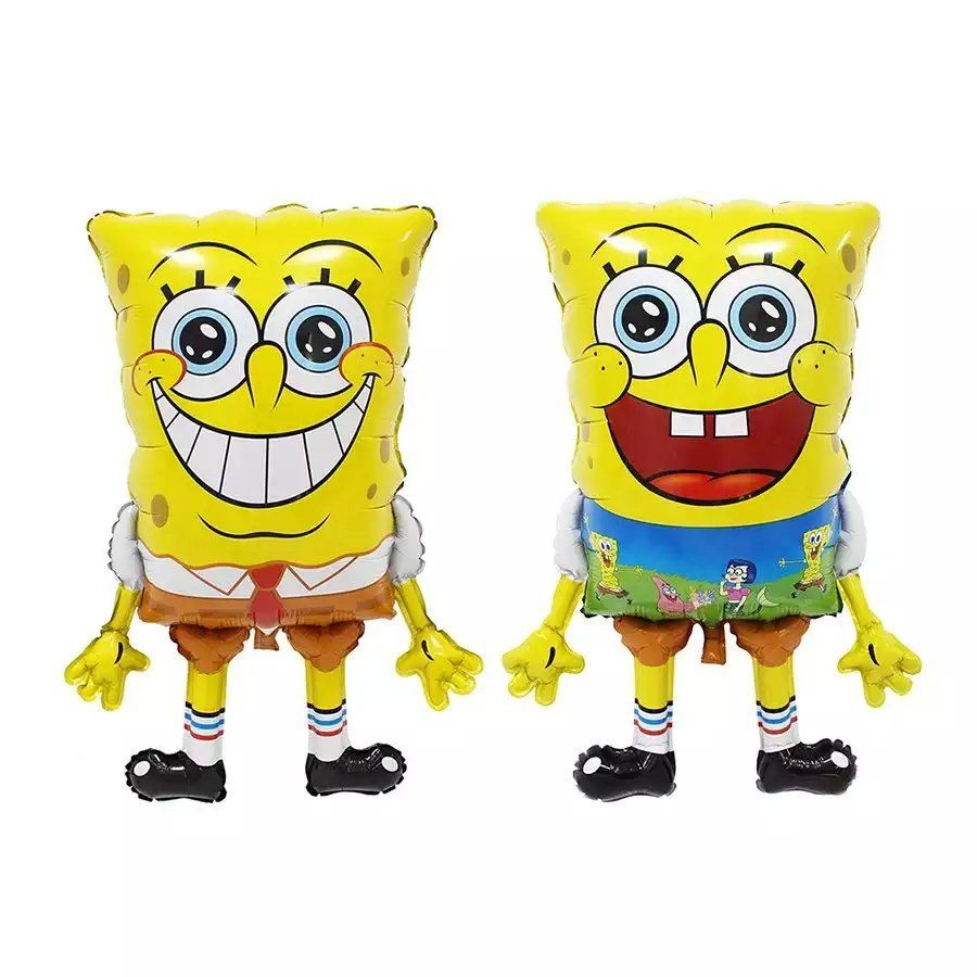 38 Inch Large Size Sponge Bob Shape Foil Balloons Double Face ...