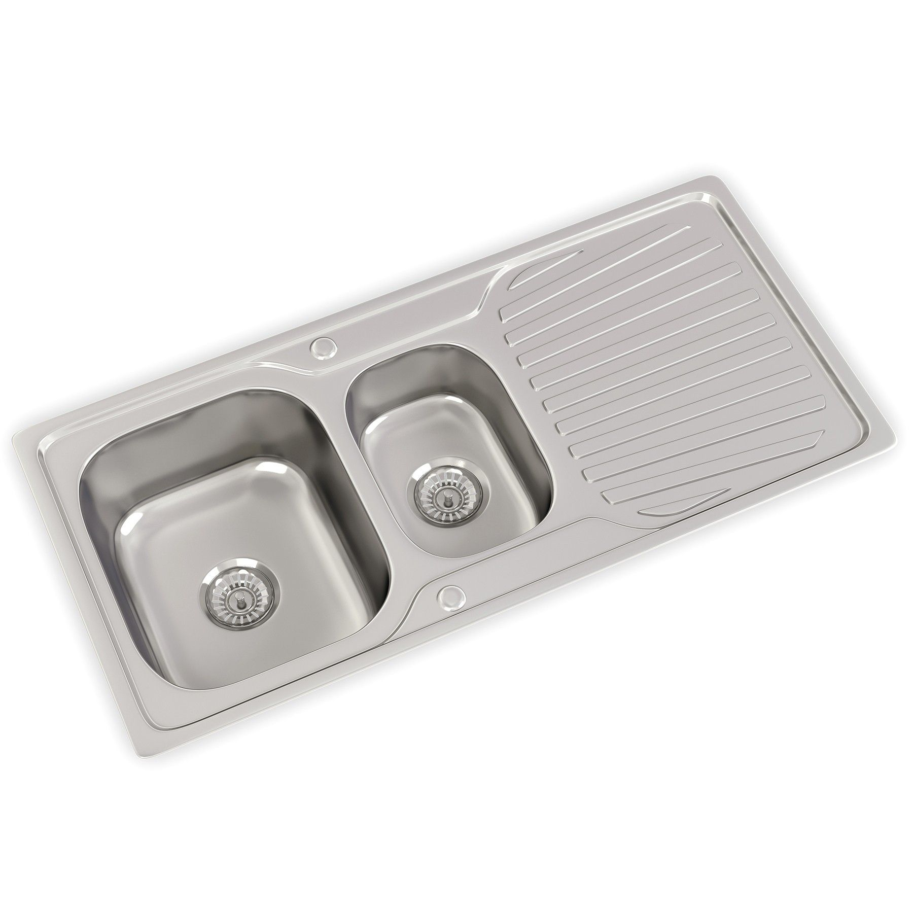 Moreton 1 5 Bowl Satin Stainless Steel Sink And Waste Kit