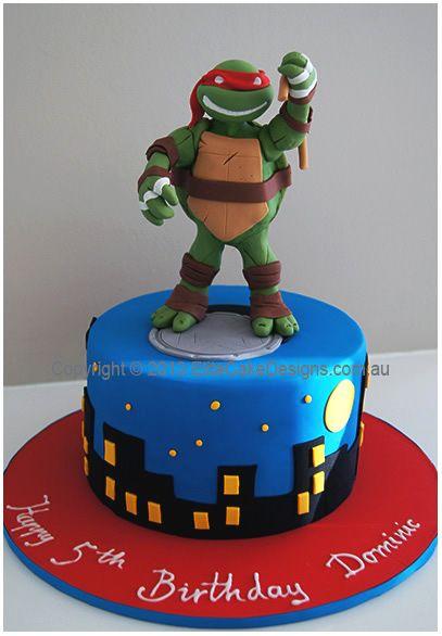 NinjaTurtlecakejpg JPEG Image 407 586 pixels Cake ideas