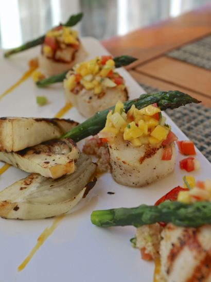 luxury hotel dining luxury hotels scallops grilled grilled fennel ...