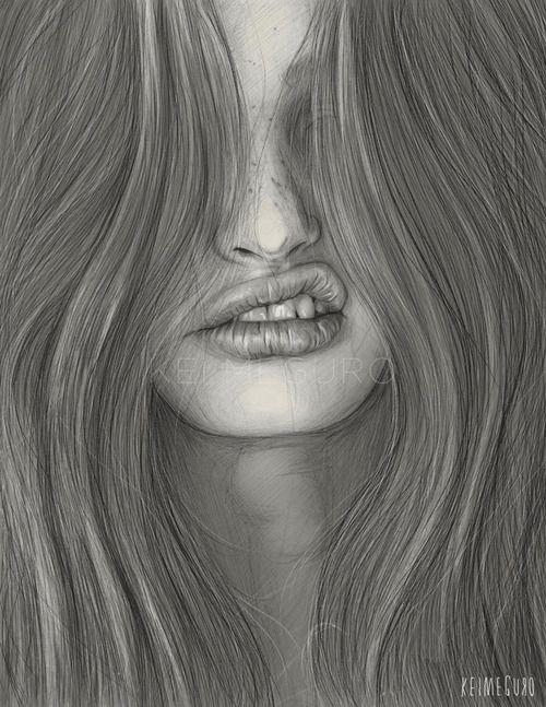 artisticstuffetc: #Paintings & Art# Illustrations by Kei Meguro (Artist on tumblr) via Tumblr