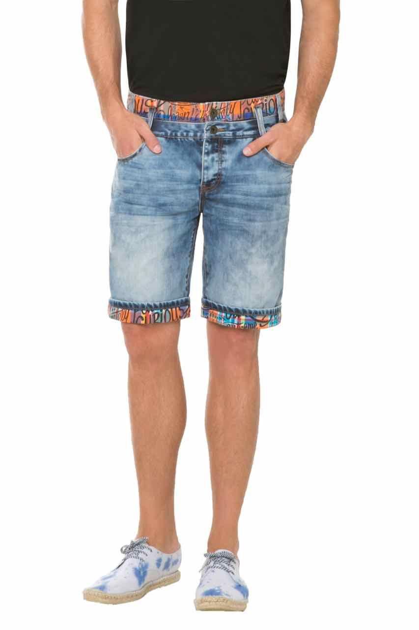 61D18A4_5053 Desigual Shorts Doble Waist Order Online