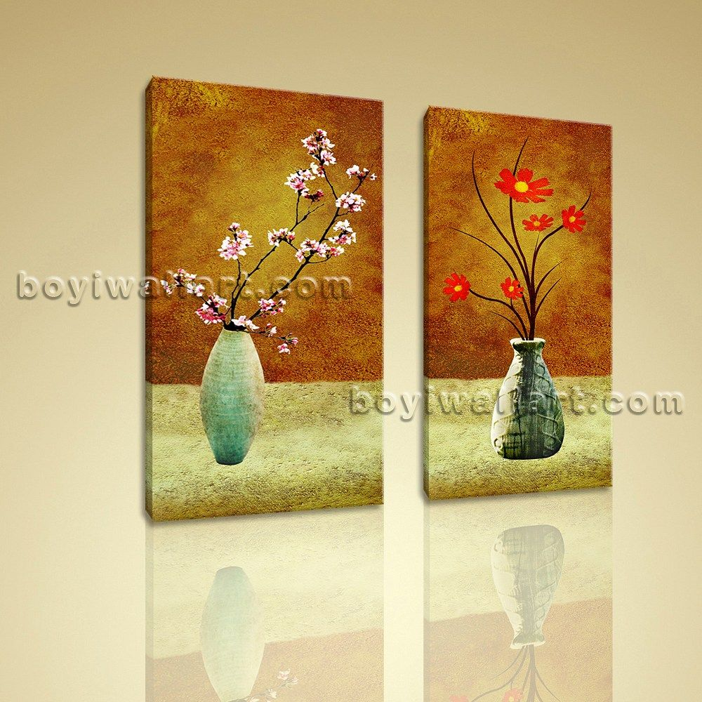 Large Abstract Floral Giclee Prints on Canvas Wall Art Contemporary ...