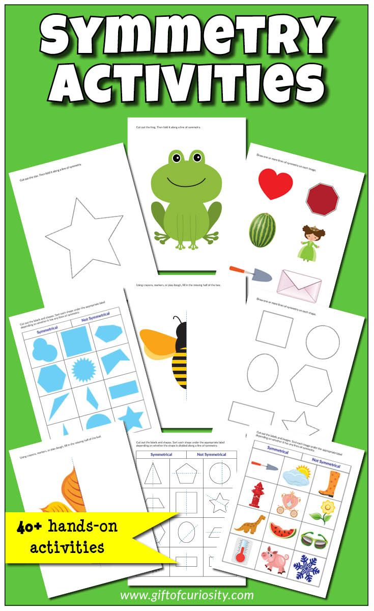 Basic Symmetry Activity Pack With 40 Reflection Symmetry Activities For Children Symmetry Activities Printable Activities For Kids Preschool Learning Activities [ 1200 x 735 Pixel ]