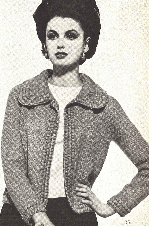 Easter cardigan 1960s knitting sweater coat jacket pattern easter cardigan 1960s knitting sweater coat jacket pattern vintage vogue knit 1961 womans bankloansurffo Choice Image