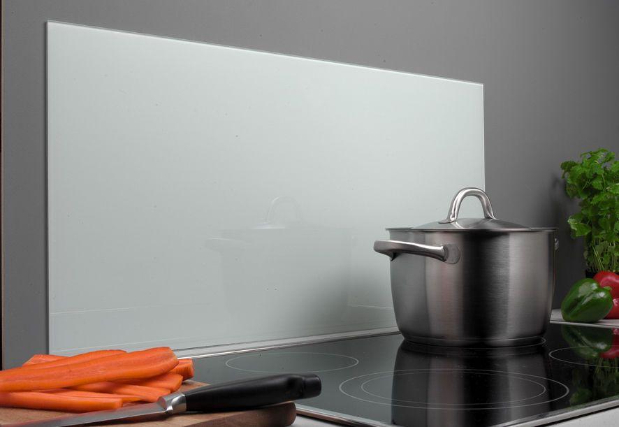 GLASTAFEL SPRITZSCHUTZ KÜCHE HERD WEIß 80X40 WANDVERKLEIDUNG - wandverkleidung küche glas