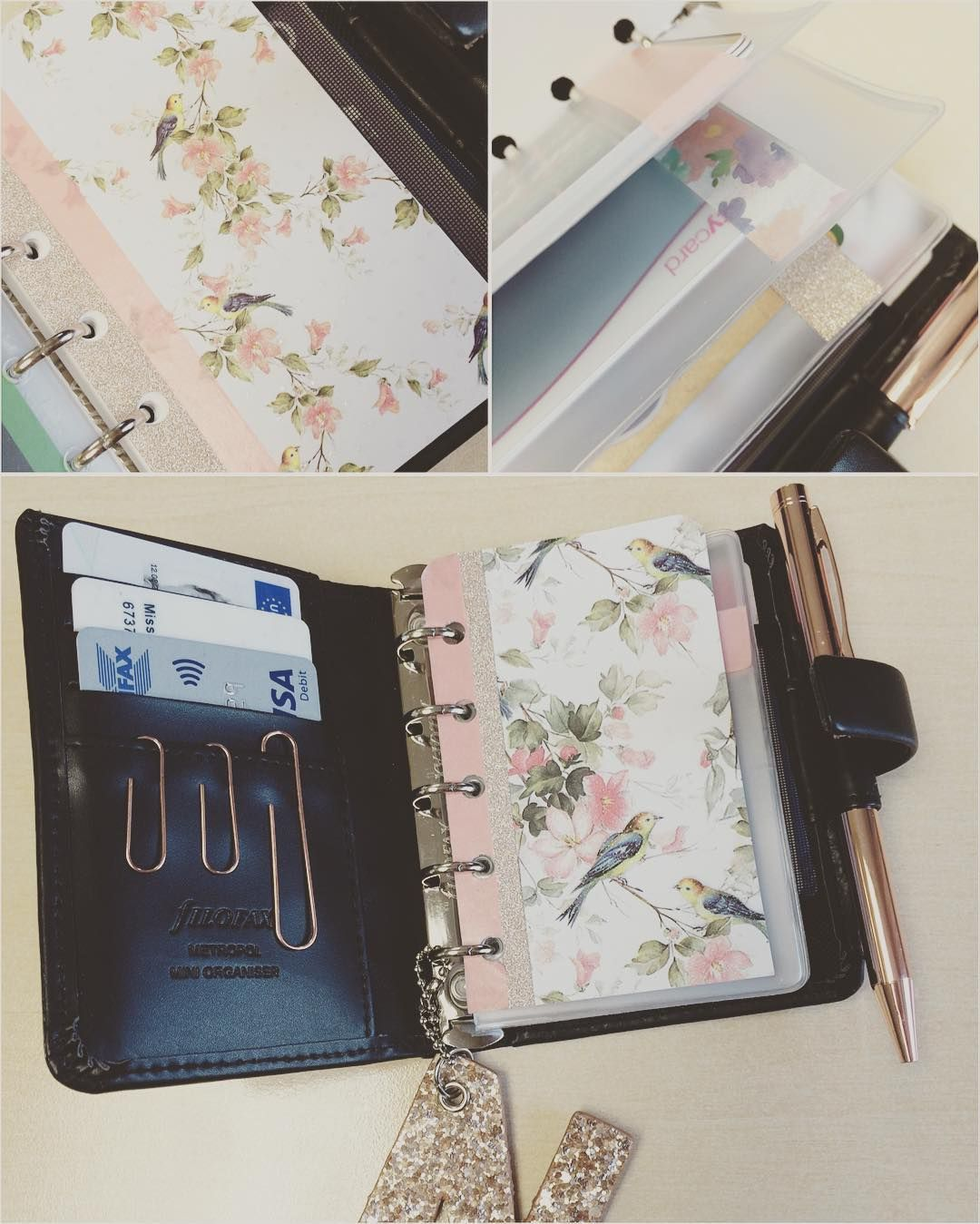 This is how you make a Filofax Mini work as a purse!  #filofax #filofaxmini #filofaxmetropol #purse #wallet #planner #planneraddict #planningaddict #filofaxlove #washi #washitape #divider by coleypopss