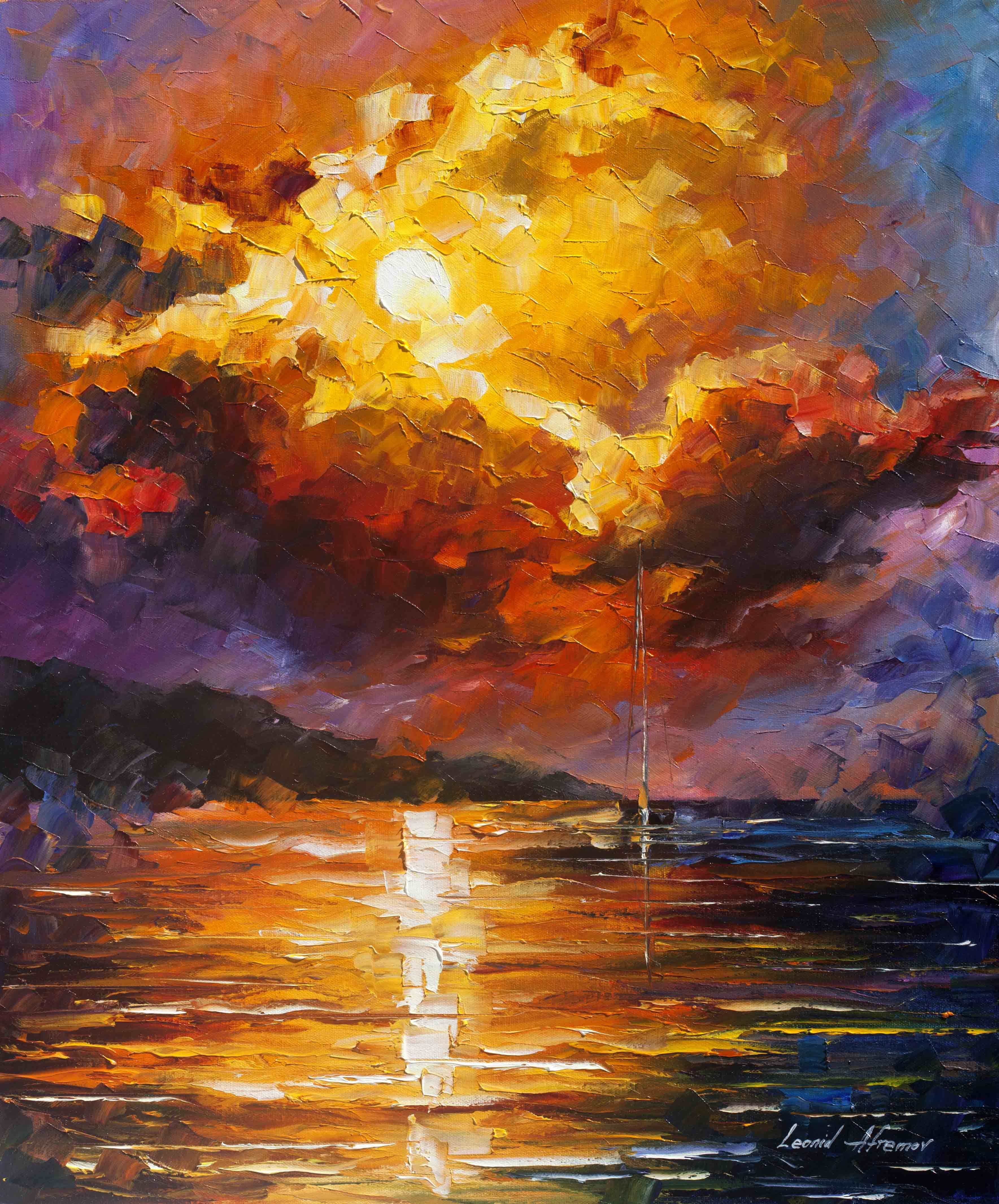 MAGNIFICENT CLOUDS — PALETTE KNIFE Oil Painting On Canvas
