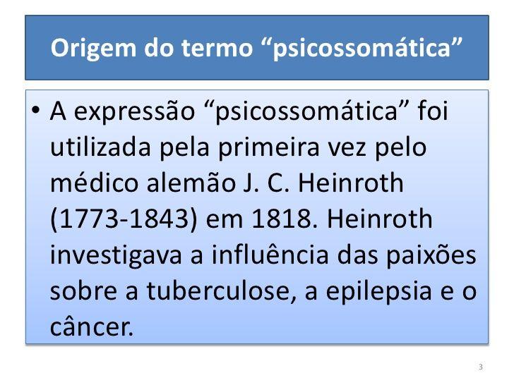 psicossomática