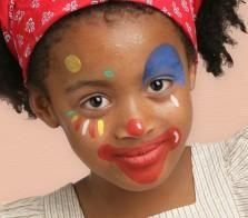 Grimtout, maquillage à l\u0027eau, petite clown
