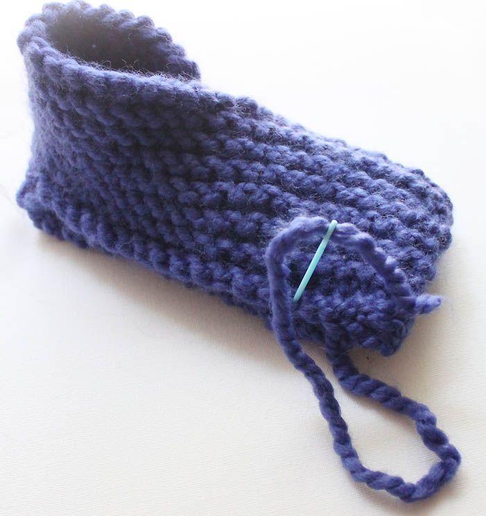 Free Beginner Womens Slipper Knitting Pattern by Gina Michele ...